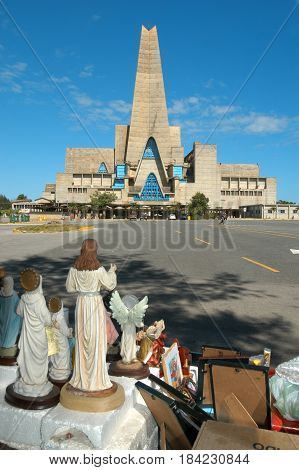 Higuey, Dominican Republic - 30 january 2002: the church named Shrine of Our Lady of Altagracia in Higuey on Dominican Republic