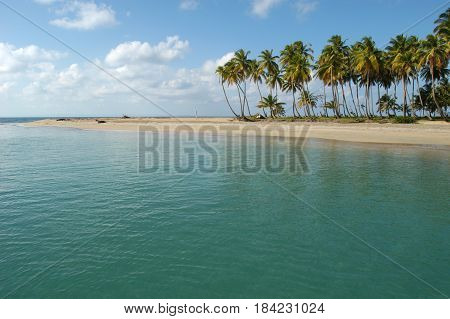 Beach of Punta El Rey on Costa Esmeralda Dominican Republic