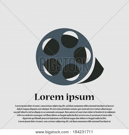 icon film movie - vector eps 10