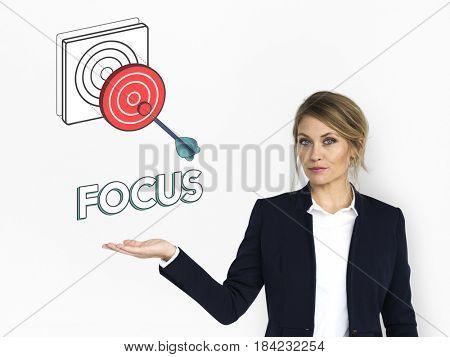 Goal focus aim success graphic