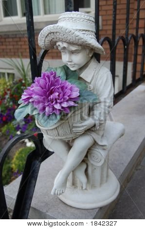 Boy Garden Ornament