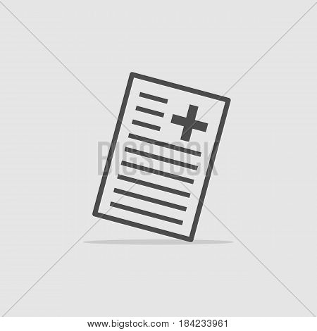 medical questionnaire icon - vector eps 10