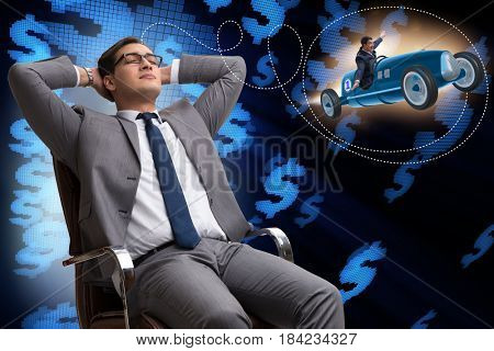 Man thinking of his business ipo