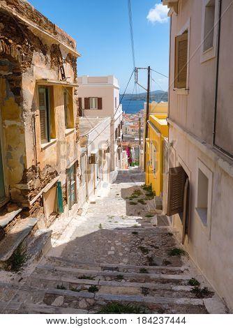 Street In Syros Island