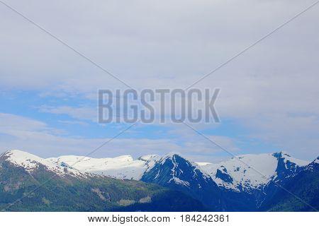 Mountain Range In Norway