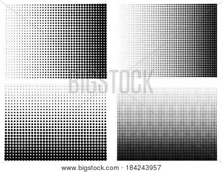 Halftone gradient set Half tone gradient vector Line half tone gradient