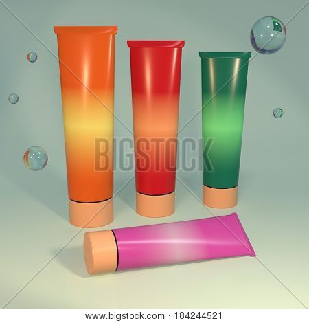 Cosmetic Aids Products 3D Illustration