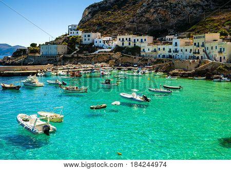 A veiw of Levanzo Island Sicily Italy