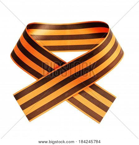 St. George Ribbon Isolated On White