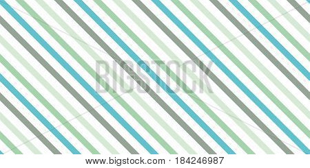 Background with a slanted diagonal stripes lines. Different shades of green color. Vector illustration. Geometric background print on paperfabric gift wrap packaging bedding lining apparel