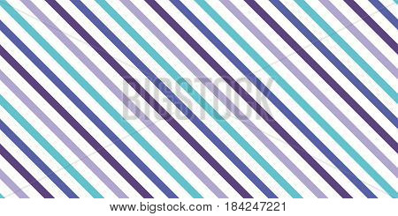 Background with a slanted diagonal stripes lines. Blue, green, lilac  color. Vector illustration. Geometric background print on paperfabric gift wrap packaging bedding lining apparel