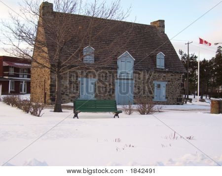 Old Stone House In Winter