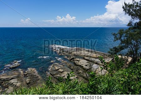 Beautiful view at the Tip of Borneo in Kudat, Sabah Borneo, Malaysia.