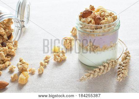 Greek Yogurt With Fruit Crunchy