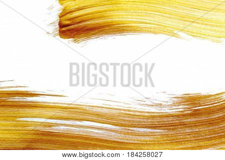 beautiful big Abstract gilded background with acrylic paint brush with place for your text.