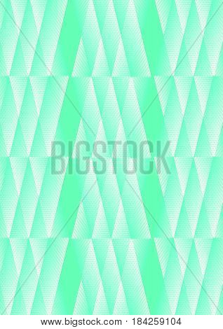 Polygonal white and green background with fine texture, vector EPS 10