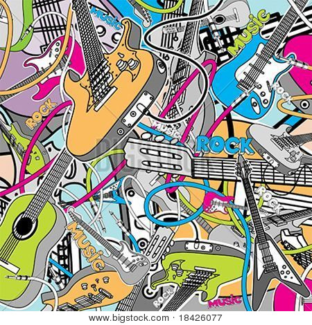 Vector Guitars Collage