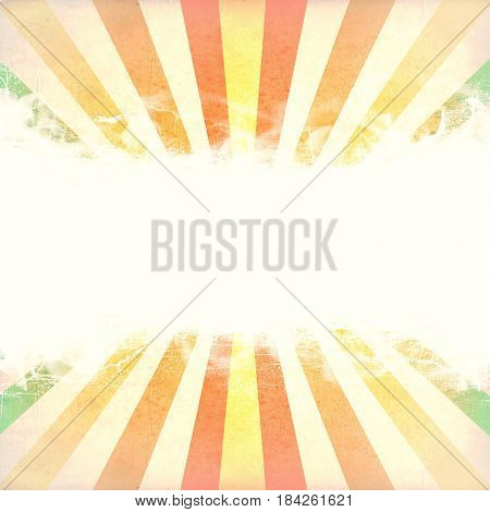 Multicolor Sunbeams grunge background. with copy space.