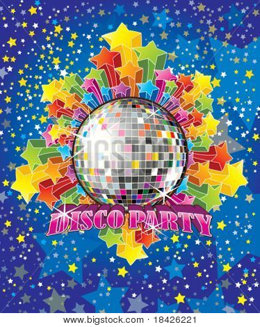 Vector Disco Party Illustration