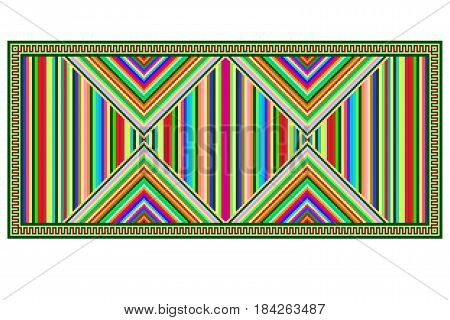 Colorful geometric pattern, blanket, banner, decoration with bright stripes.