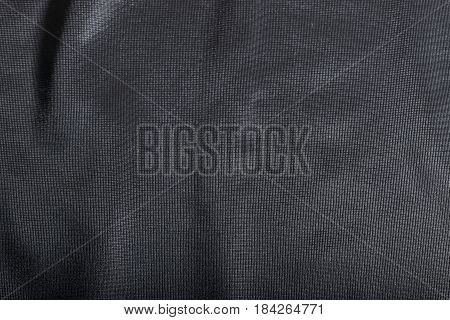 Synthetic Black Fabric Texture Background.
