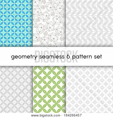 Seamless pattern set for wallpaper, textile, wrapping paper, web