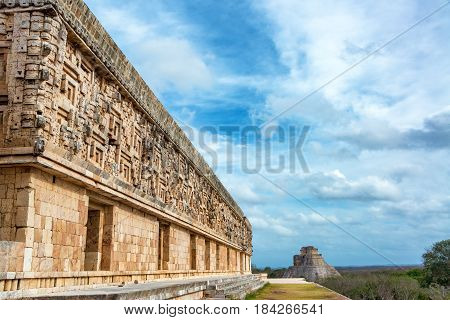 Uxmal Ruins View