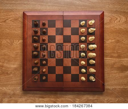 top down view of a chess board