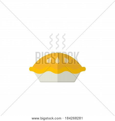 Pie flat icon, food drink elements, baking sweet sign, a pattern on a white background, eps 10.