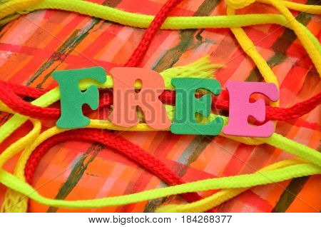 word free on a  abstract colorful backgroun