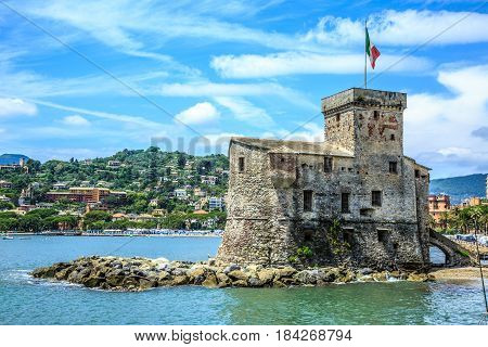 Italian Old Town Rapallo Castle
