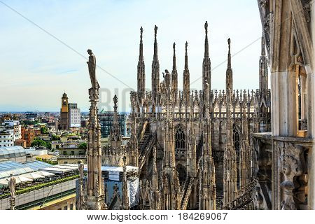View From Duomo Roof In Milan