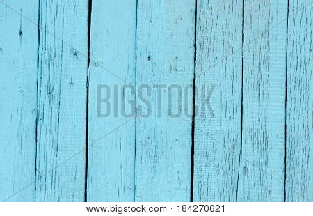 Wooden boards painted in blue as a background