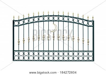 Fence of the mosque. Isolated on white background.