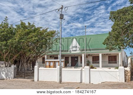 MCGREGOR SOUTH AFRICA - MARCH 26 2017: The municipal offices in McGregor a small town in the Western Cape Province