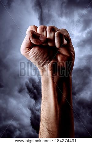 Male Hand Clenched In Fist