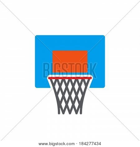 basketball hoop icon isolated on white background .