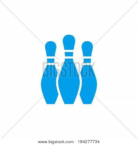 Bowling skittles Icon isolated on white background .