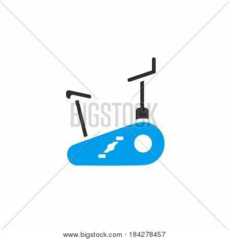 stationary bike icon isolated on white background .