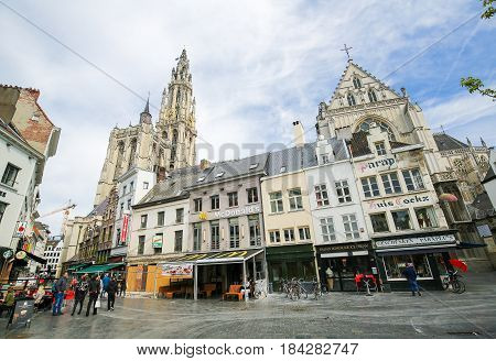Belgium, Antwerp, Cathedral Of Our Lady, Groenplaats