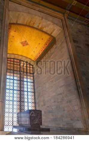 ANKARA, TURKEY - APRIL 26, 2017: Anitkabir, Mausoleum of Ataturk - Ankara, Turkey