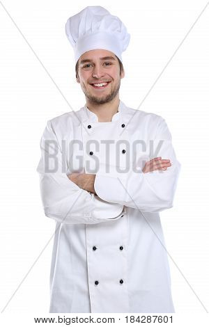Cook Apprentice Trainee Cooking Job Young Man Isolated