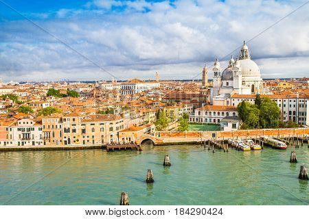 a beautiful view of Venice and its canals