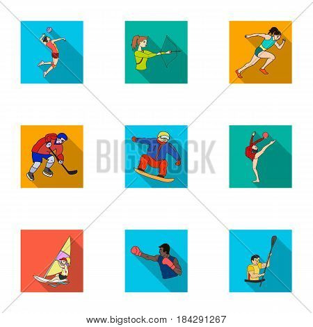 Olympic sports. Winter and summer sports. A set of pictures about athletes.Olympic sports icon in set collection on flat style vector symbol stock web illustration.