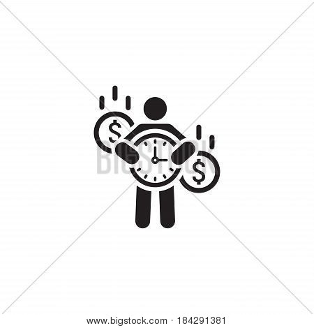 Value of Time Icon. Flat Design. Isolated Illustration