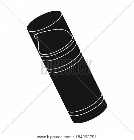 Shaving foam.Barbershop single icon in black style vector symbol stock illustration .