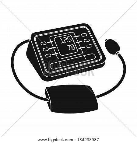 Medical tonometer.Old age single icon in black style vector symbol stock illustration .