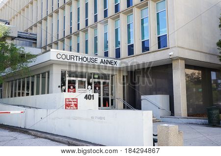 Criminal Courthouse Annex, Downtown Tampa, Florida, United States