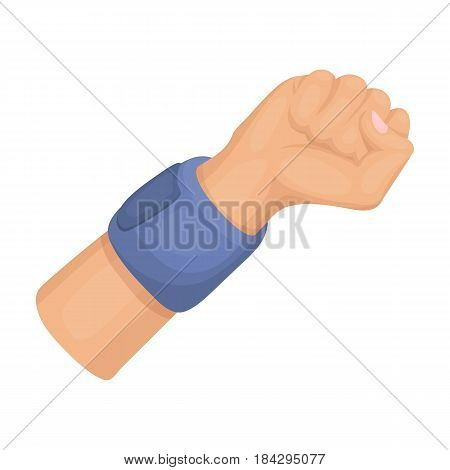 Arm with bandage.Basketball single icon in cartoon style vector symbol stock illustration .