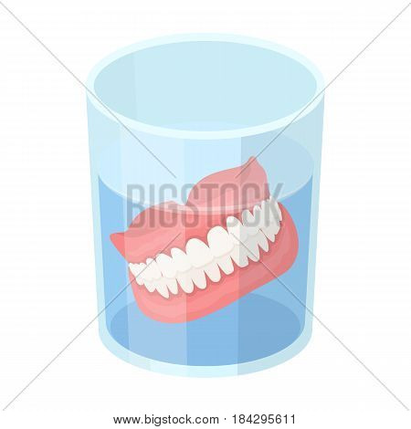 Dentures.Old age single icon in cartoon style vector symbol stock illustration .